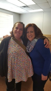 Jenny (left) is the expecting mom & Dorothee Otero (right) is theHousing Director at Heading Home.